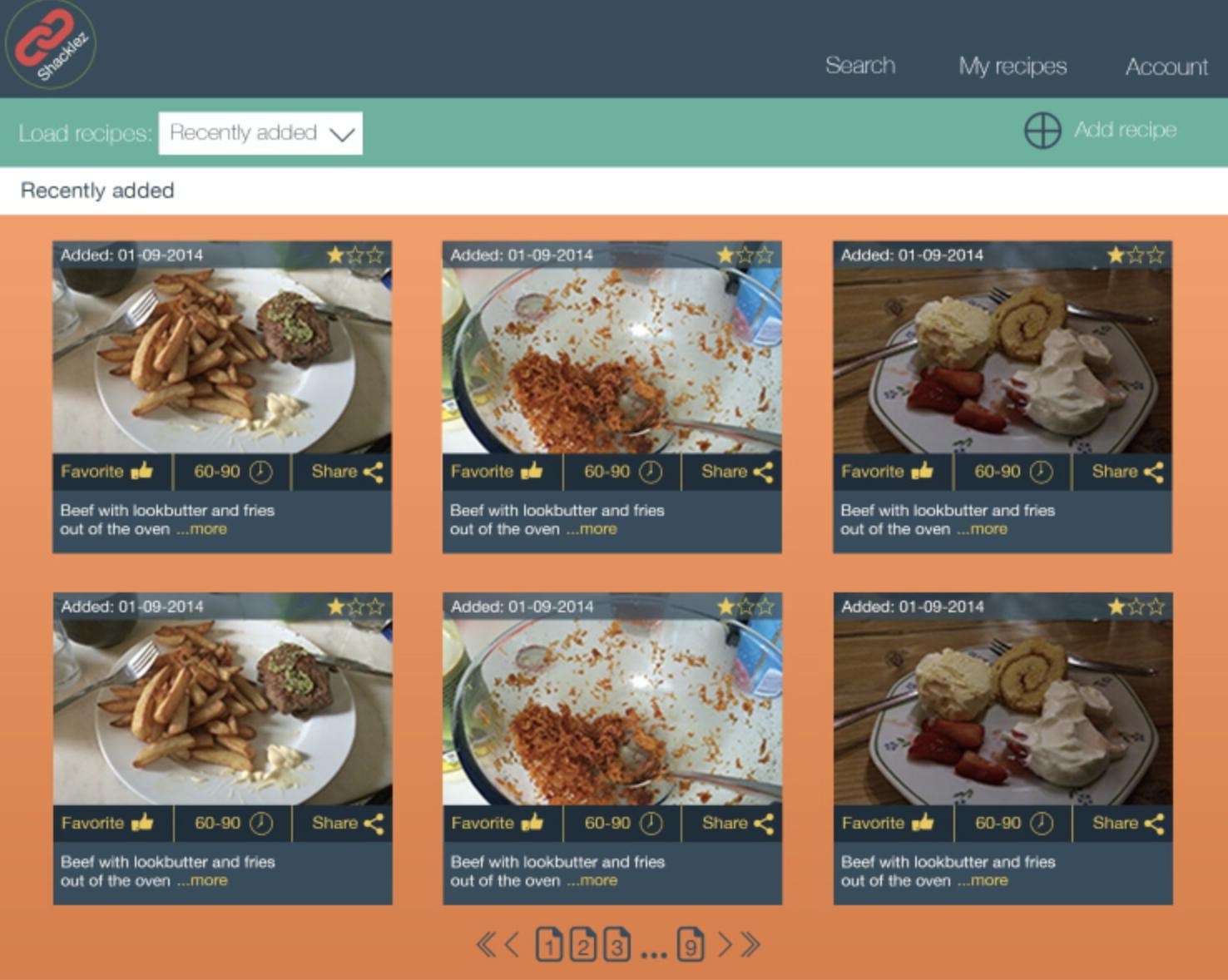 my recipes website